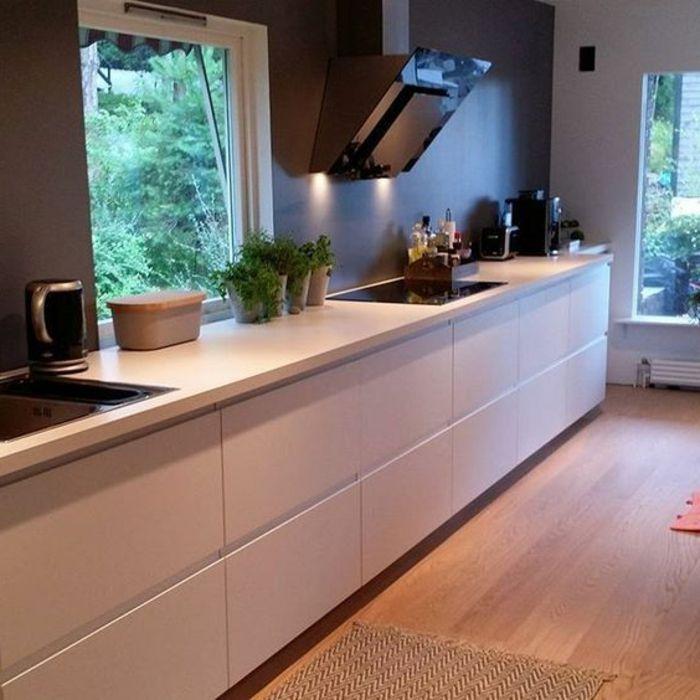 ▷ 1001+ ideas de decorar vuestra cocina blanca y gris