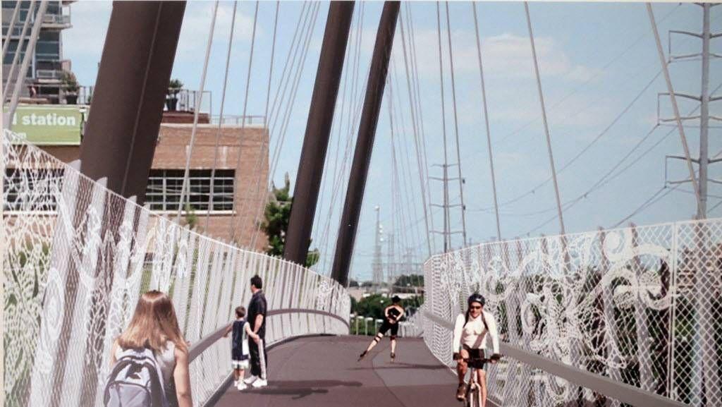 Construction Finally Begins On Pedestrian Bridge At Mockingbird