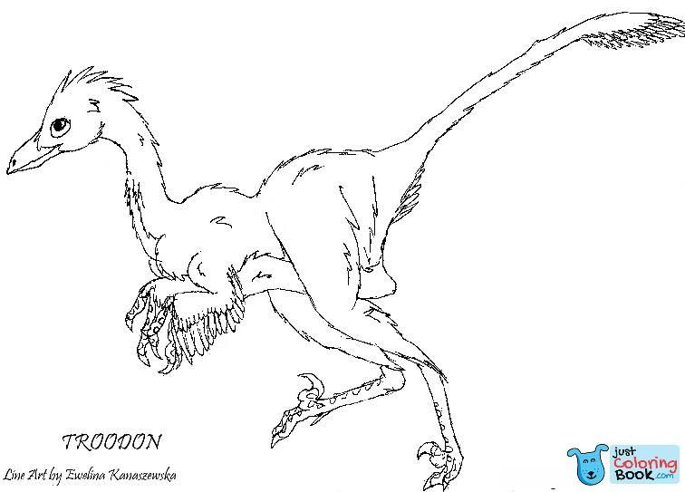 Troodon Dinosaur Coloring Page Free Printable Coloring Pages For Free Download Gallimimus Dinosaur Coloring Pages