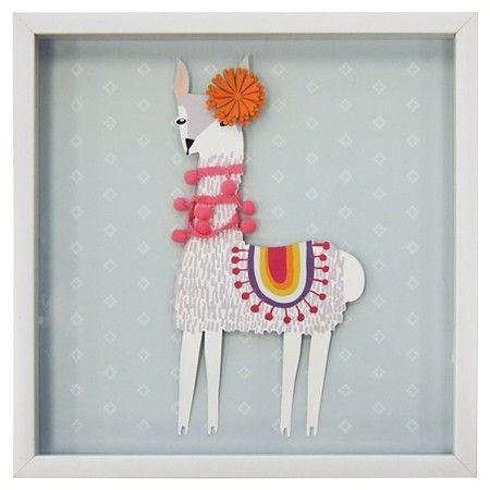 Llama Framed Art (15.25 Target, Room and Nursery