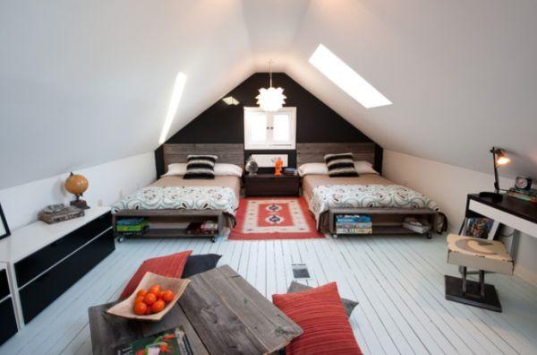 40 Teenage Boys Room Designs We Love Attic Design Attic Bedroom Designs Remodel Bedroom
