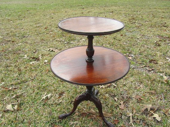 Vintage Side Table End Table Table Furniture Two Tier Round Table Claw Foot Table Vintage Side Table Vintage Furniture Diy Table Furniture