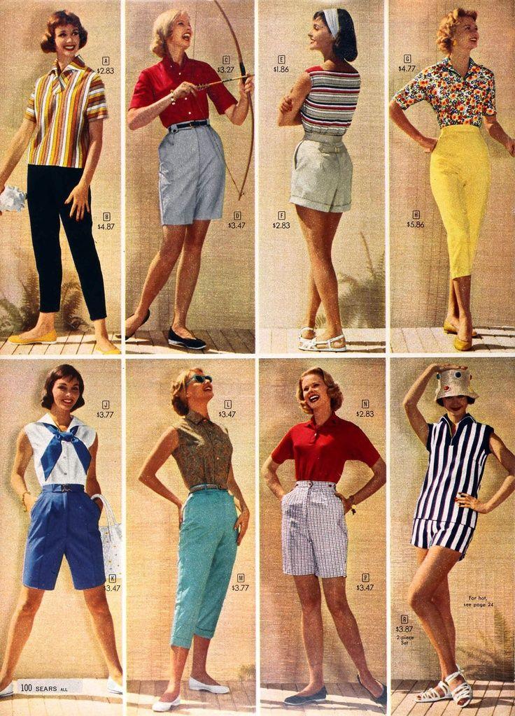 fc6b98e8716ab 1950s Shorts: Vintage Retro Shorts History | 1950s Fashion | Fashion ...
