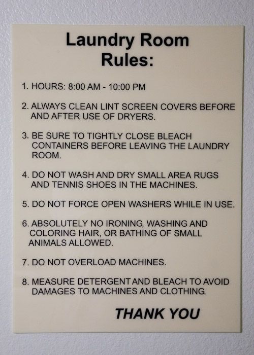 Public Laundry Room Rules Google Search Cosas Para El Bano