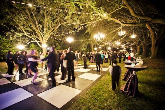 Green And Purple Outdoor Wedding In Charleston, South