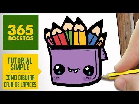Como Dibujar Una Caja De Lapices Kawaii Dibujos Kawaii 365