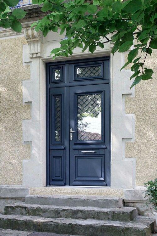 athéna porte d entrée aluminium classique mi vitrée