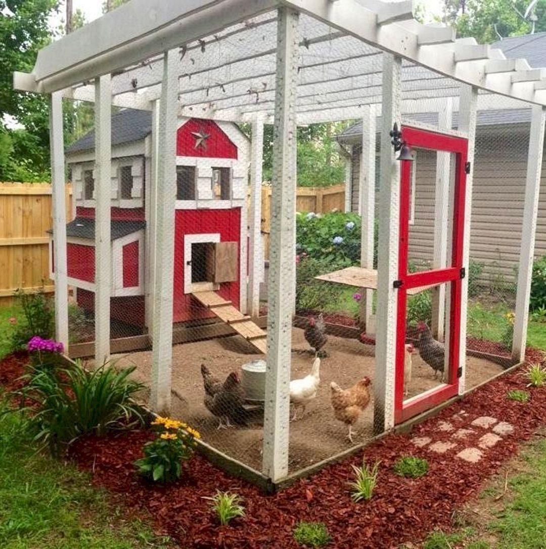 45 Unique Chicken Run Ideas For Garden | Backyard chicken ...