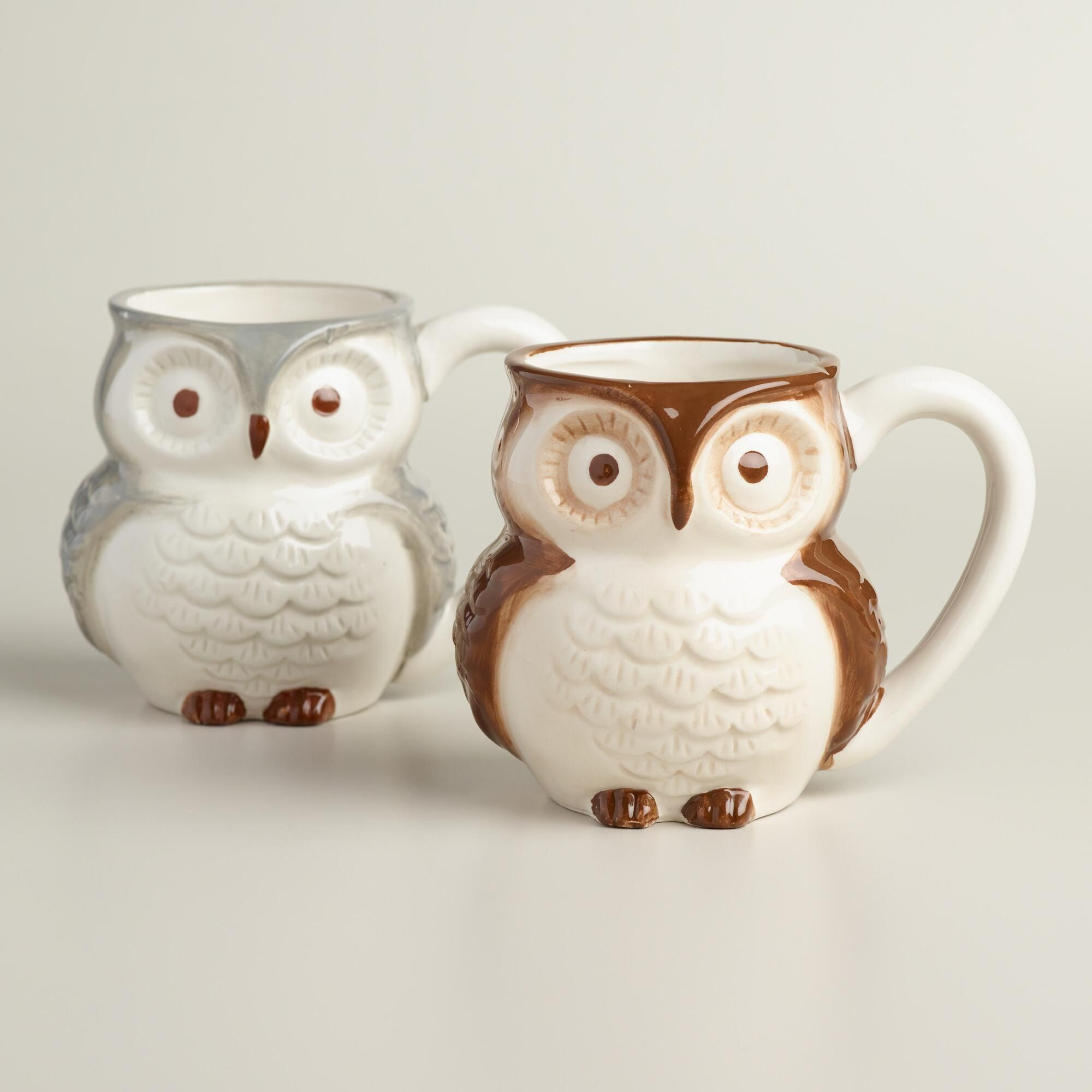 Crafted of earthenware, our owl mugs celebrate the beloved woodland ...