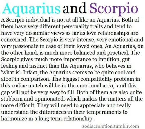 Aquarius woman hookup a scorpio man