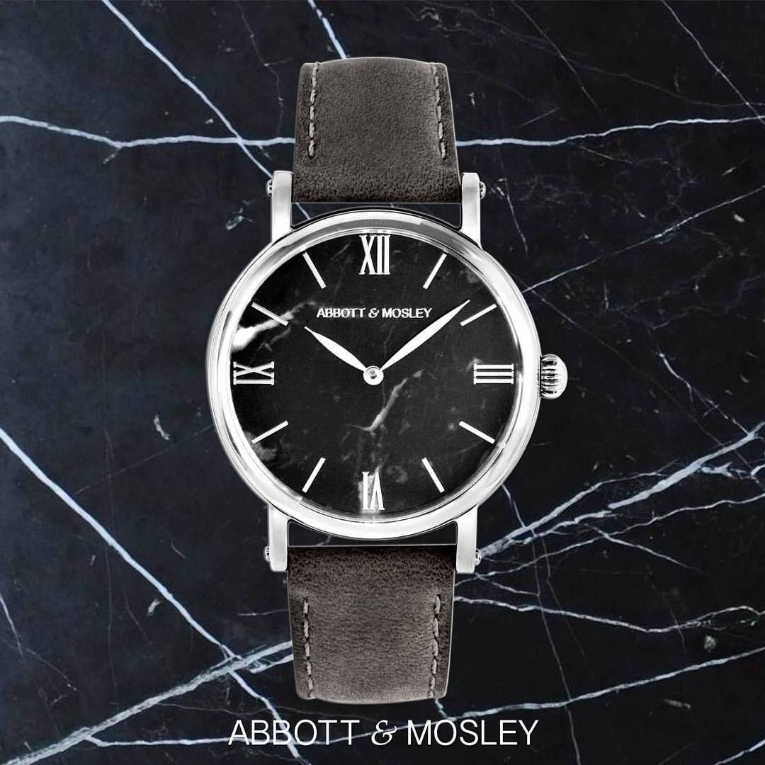 THIS IS THE GREY MARQUINA  Order your Marble Watch at www.abbottandmosley.com Pre-Sale Price: 269 USD We Ship to the Whole Wide World  Abbott & Mosley are the makers of uniquely crafted timepieces that combine a classic design with modern fashion. Pure Italian Marble is sliced with precision and is then carefully fitted into place to create the dial of these watches.  Only 300 of these will be made this year.  To get your hands on one of these visit www.abbottandmosley.com
