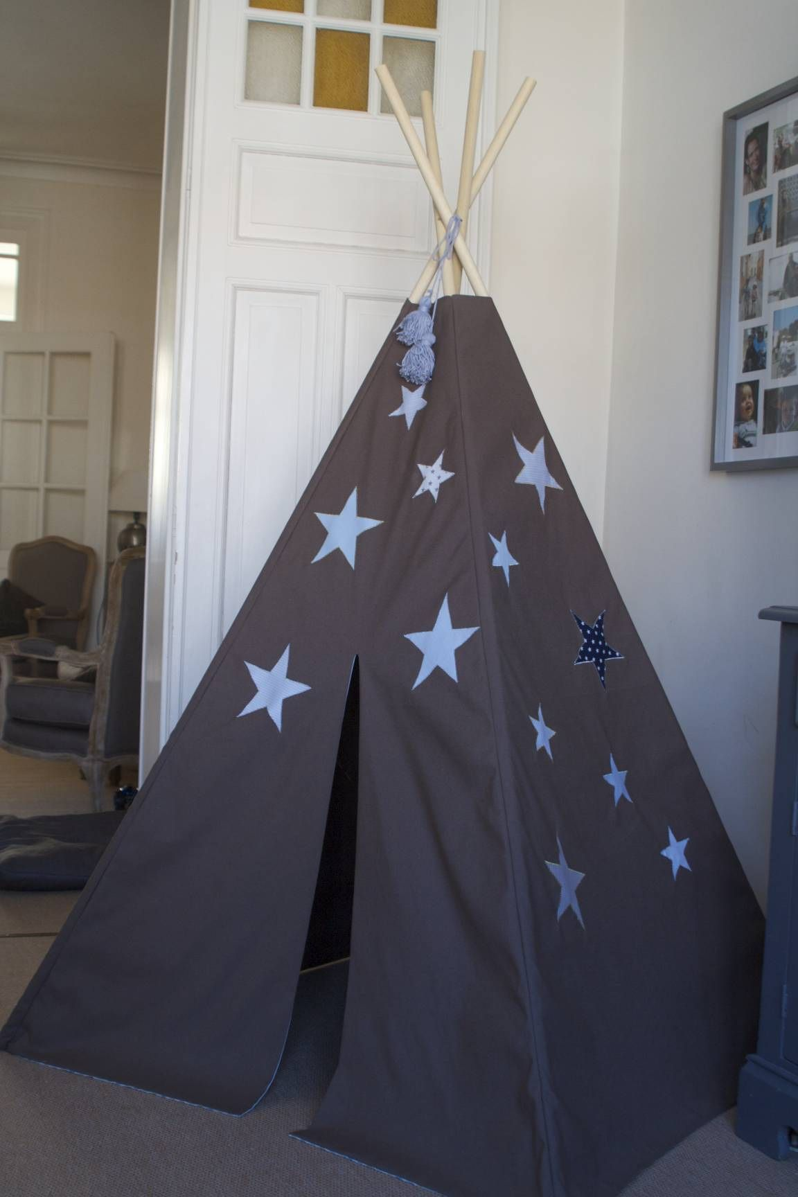 tipi mes petits riens teepee pinterest petit rien ma petite et amenagement chambre enfant. Black Bedroom Furniture Sets. Home Design Ideas