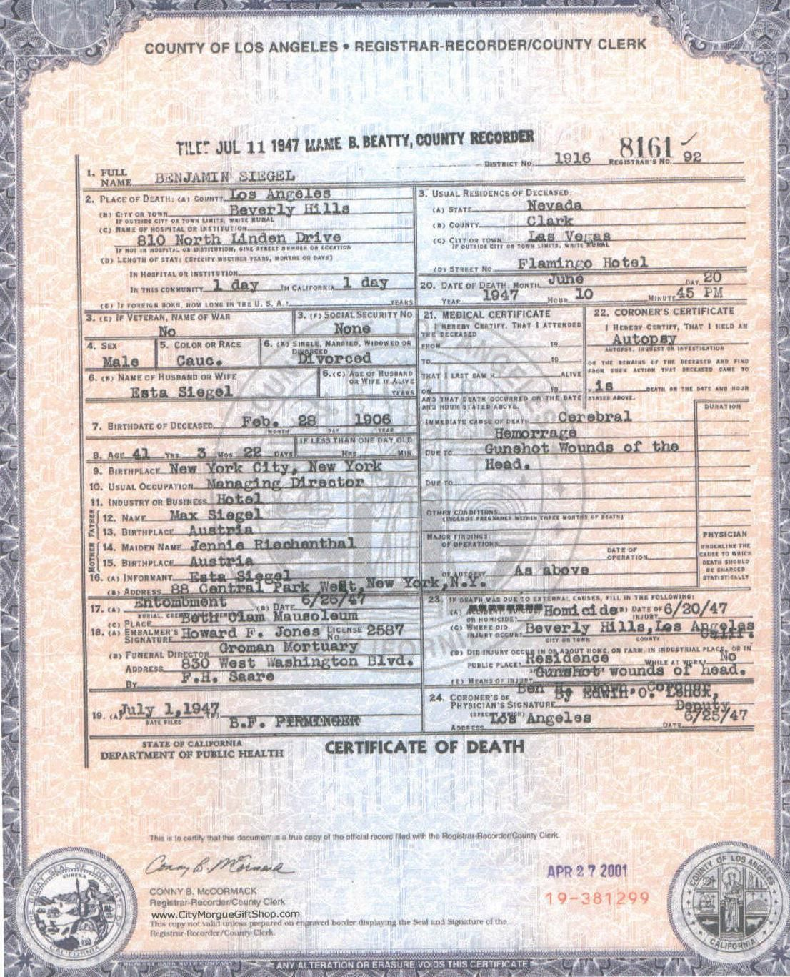 Death Certificate Epidemiology Pinterest Death Certificate And
