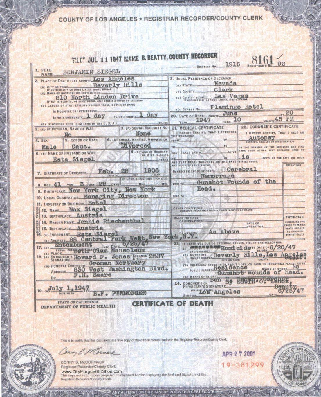 Death certificate epidemiology pinterest death certificate death certificate xflitez Image collections