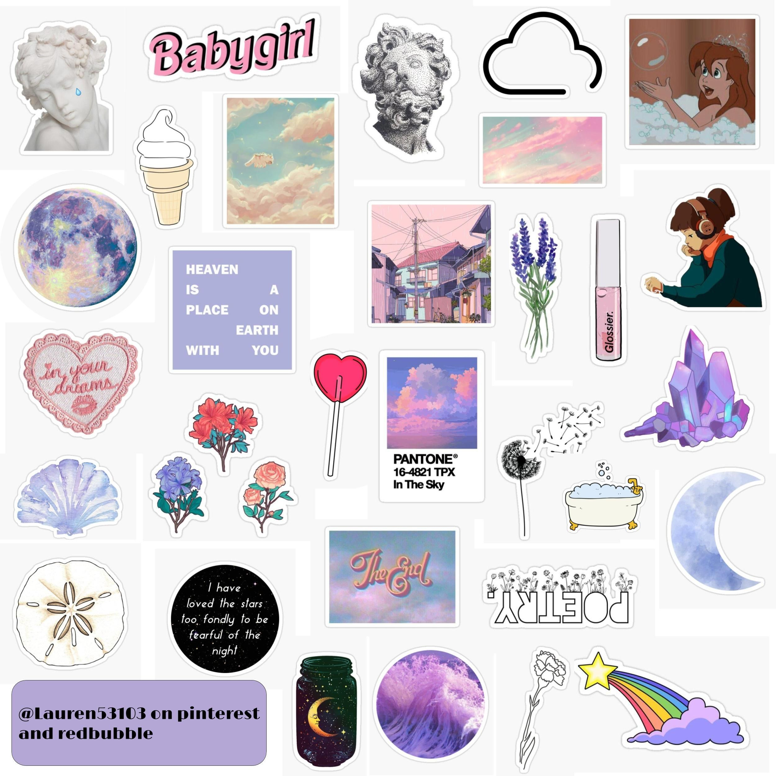 Dreamy Stickers In 2020 Sticker Art Print Stickers Girl Stickers