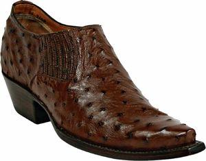 Womens Black Jack Boots Cigar Pin Ostrich Custom Shoe Boots 1001