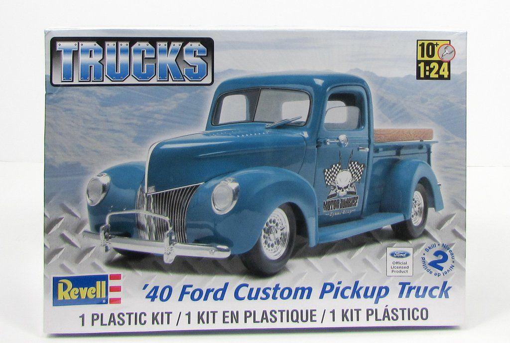 1940 ford custom pickup truck revell 85 4928 1 24 new truck model kit shore line hobby truck. Black Bedroom Furniture Sets. Home Design Ideas