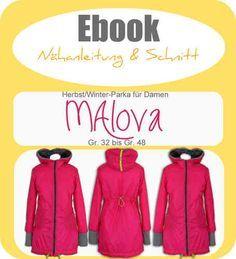 Ebook MAlova Damen-Parka - Schnittmuster und Anleitung als PDF, versandkostenfrei