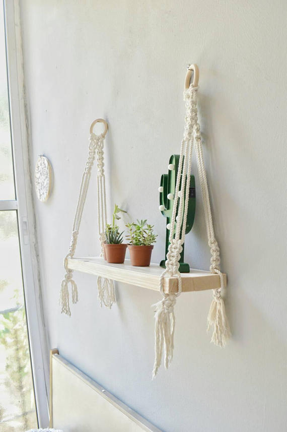 Macrame shelf, hanging macrame shelf, Boho shelves ...