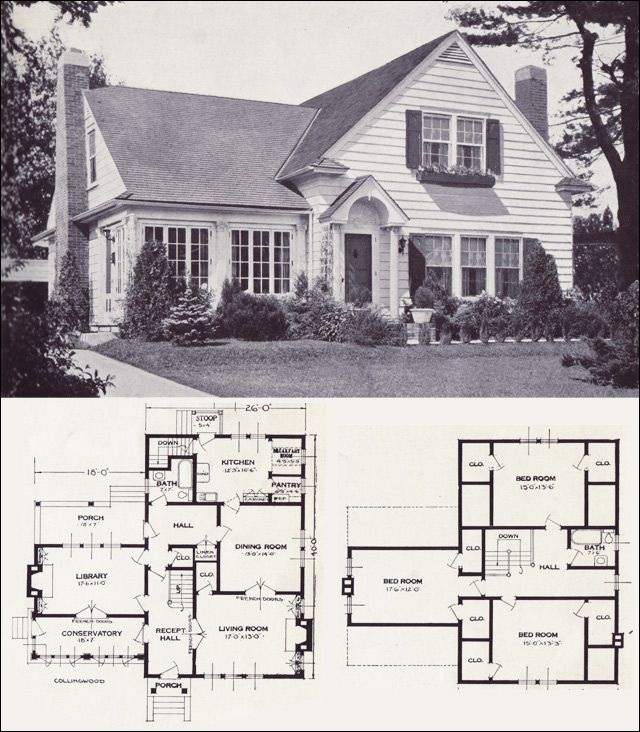 1920s vintage home plans the collingwood standard for Modern colonial house plans