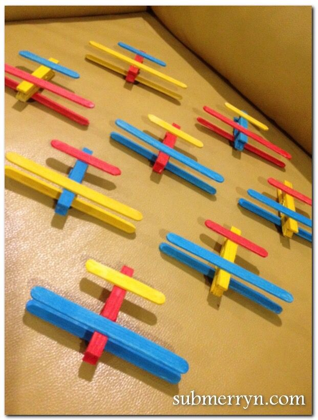 Popsicle stick airplane crafts for kids craft diy also the best ice cream images on pinterest rh