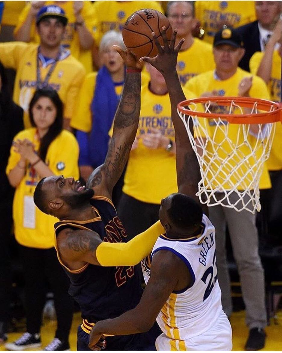 Quiz Question What Game Of The Nba Finals And In What Year Did Draymond Block Lebron At The End Of Regulation Dubnation Nba Finals Nba Warriors Pictures