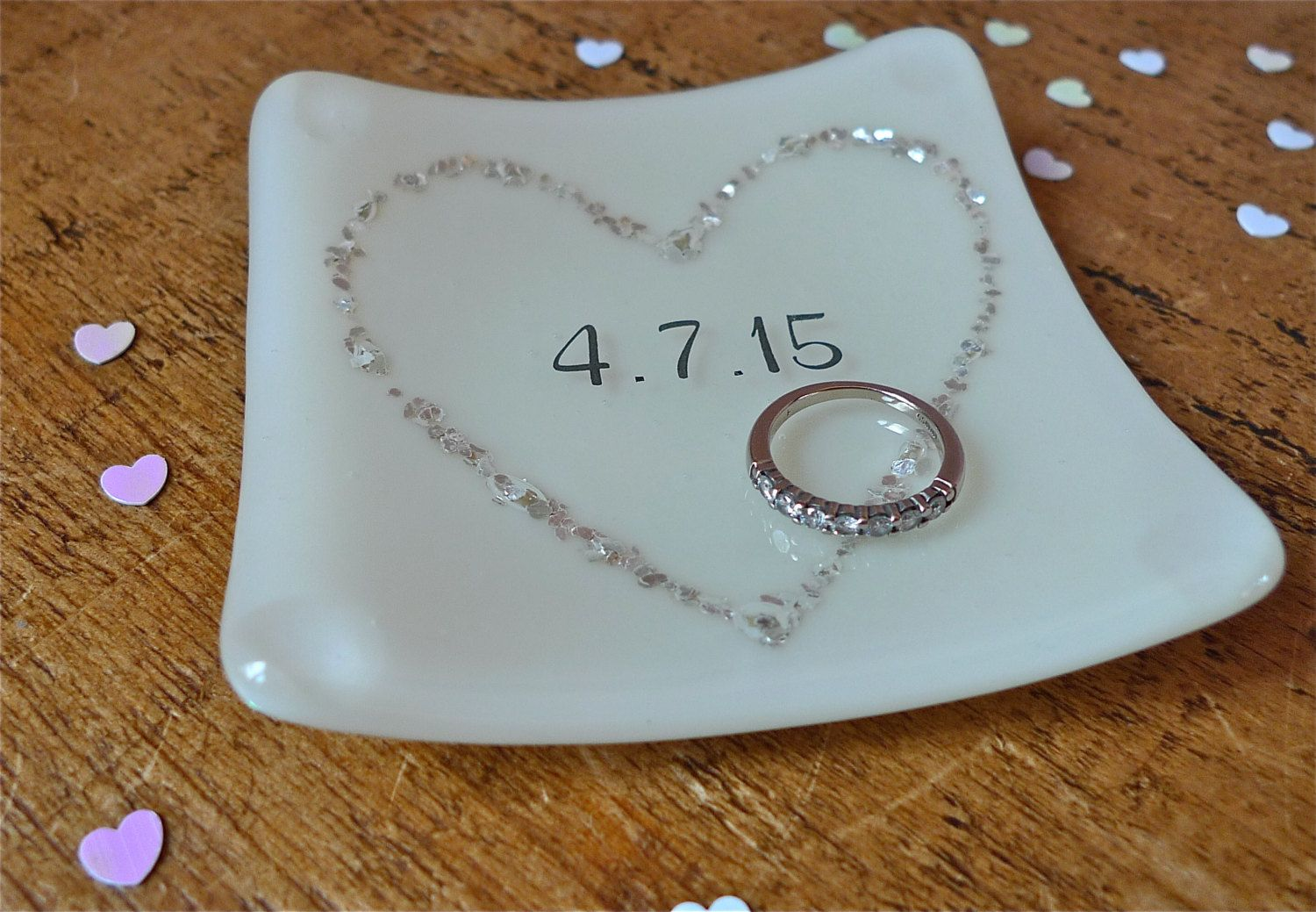 Personalised Wedding Anniversary Ring Dish By Firedimagination