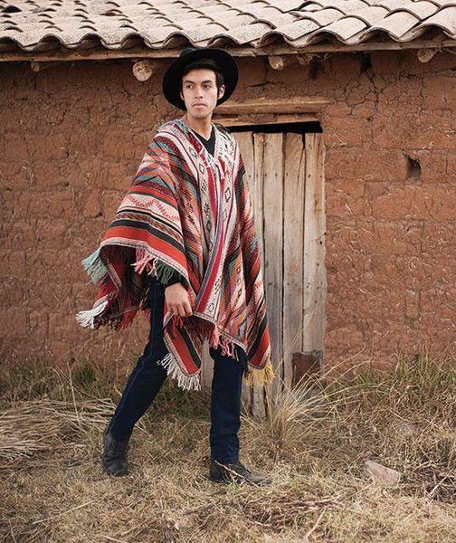 ea5849a87 Sonqo Master Weaver Men s Baby Alpaca Poncho