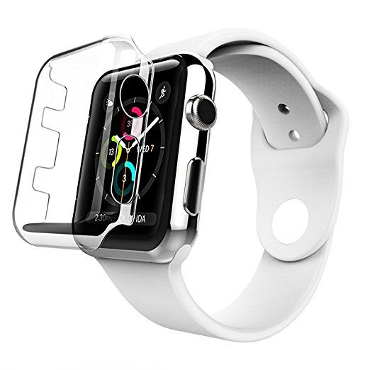 Oittm Apple Watch 42 Mm Case Series 2 Crystal Clear Pc Case Precise Cutout Screen Protector Full Fit Ultra Thin C Protetor De Tela Relogios Relógios Pulseira