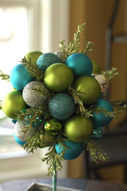Southern Scraps  DIY ornament topiary Llegó Navidad Pinterest