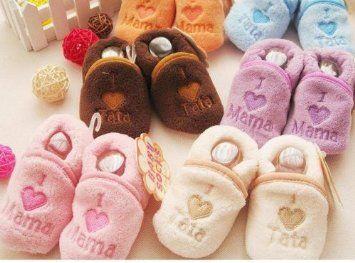 I love Mama Baby Soft Slippers, (Purple