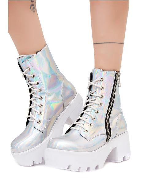 f7bc8d85521 Chiller Holographic Platform Boots
