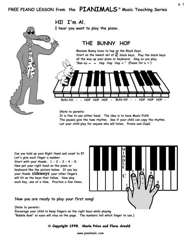 Modest image intended for beginner piano lessons printable