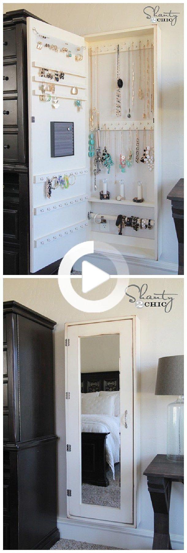 Photo of DIY Bathroom Organization Ideas – DIY Jewelry Organizer Cabinet and in Complete …