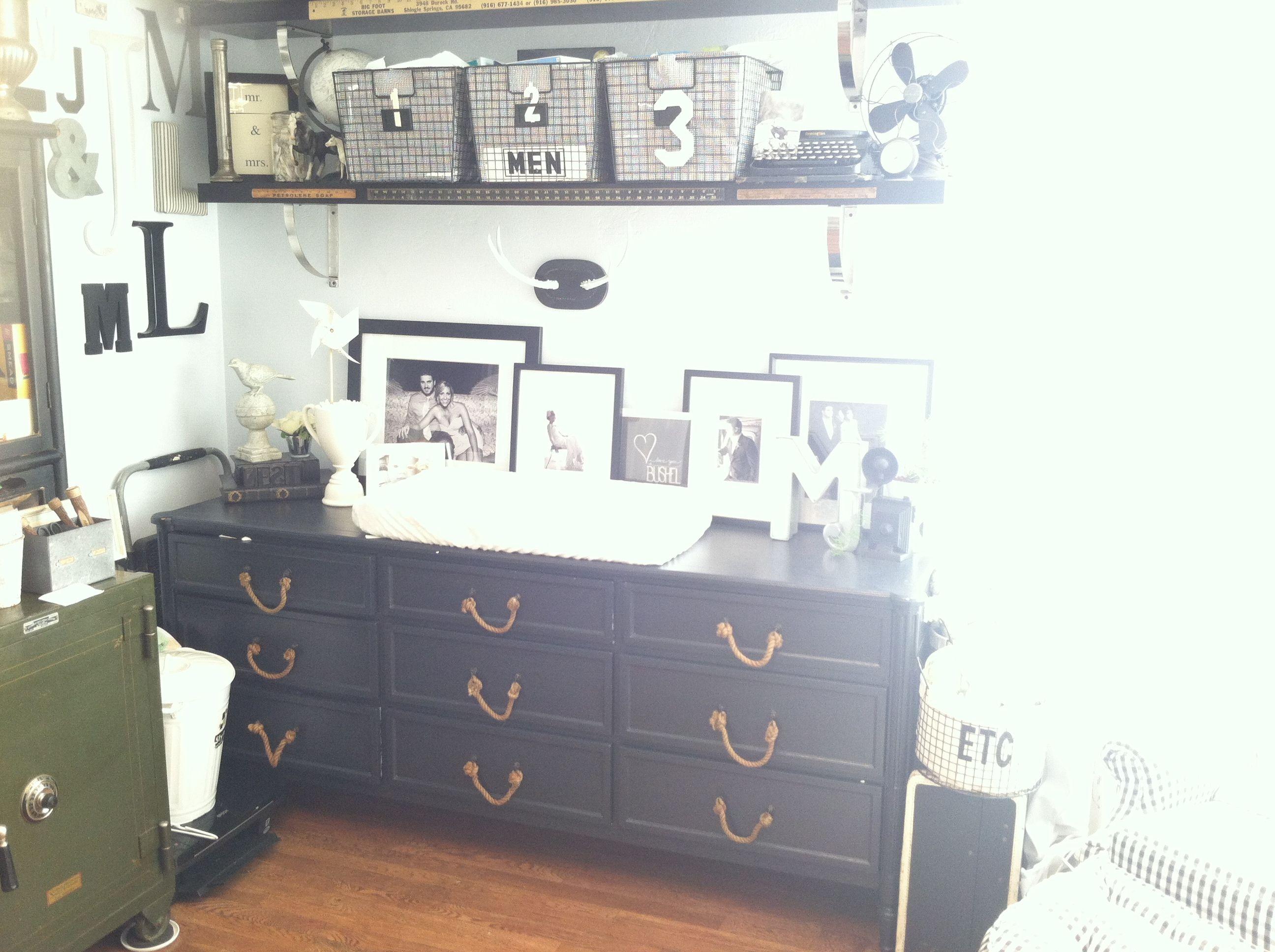 Vintage Industrial Nursery Dresser Turned Changing Table By ReJuvinate