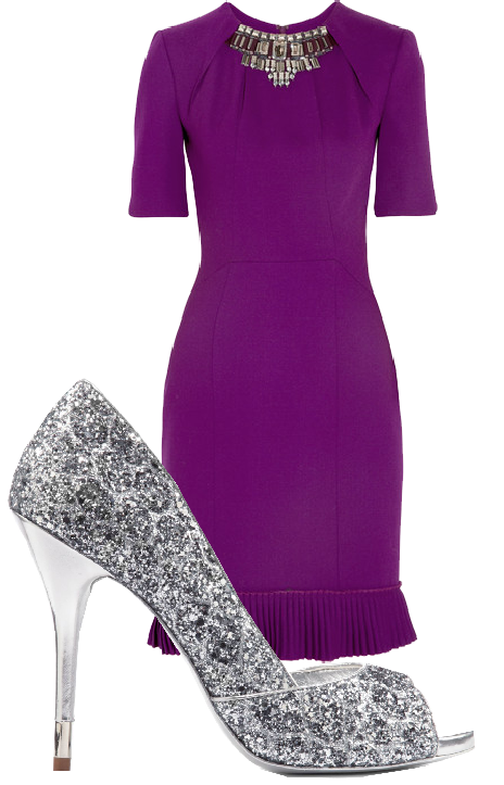 Purple Dress And Silver Shoes Fashion Silver Bridesmaid