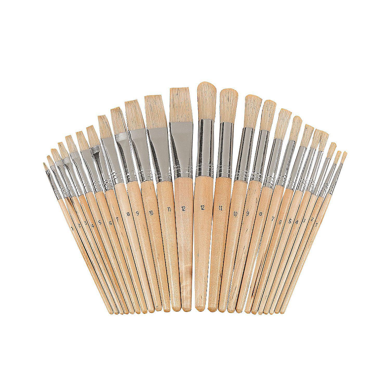 Wonderful+White+Bristles+Easel+Brush+Set+-+OrientalTrading.com