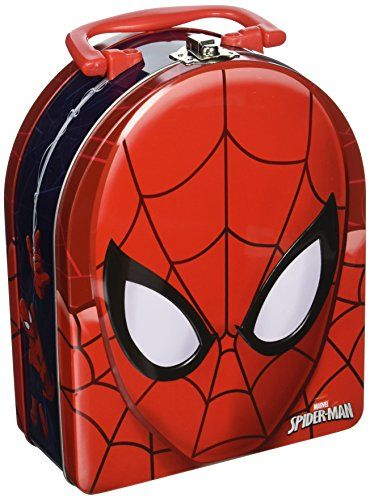 The Tin Box Company Spiderman Head Shaped Tin Carry All with Handle * Continue to the product at the image link.Note:It is affiliate link to Amazon.