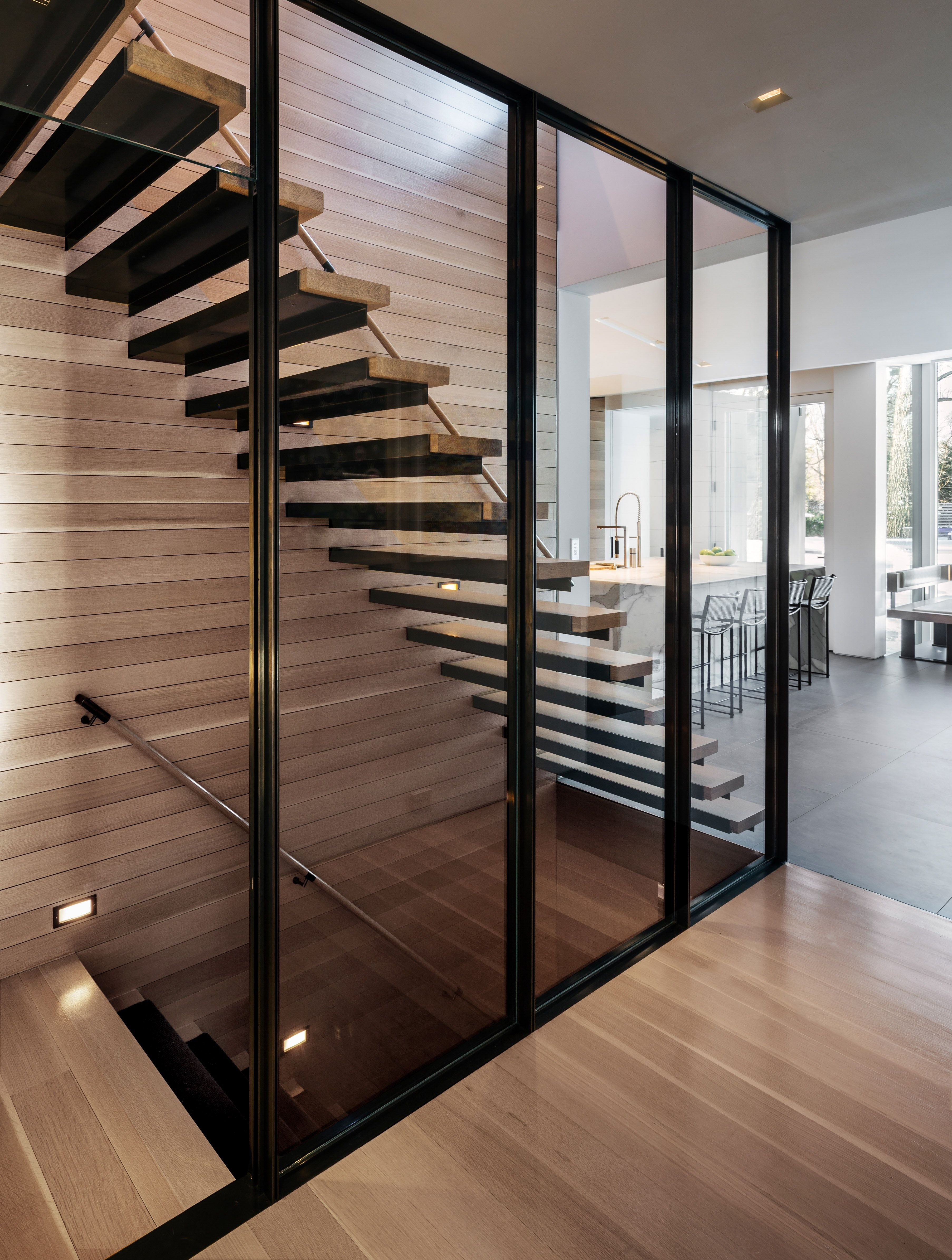 Best 38Pr Floating Stair With Glass Wall Glass Stairs 400 x 300