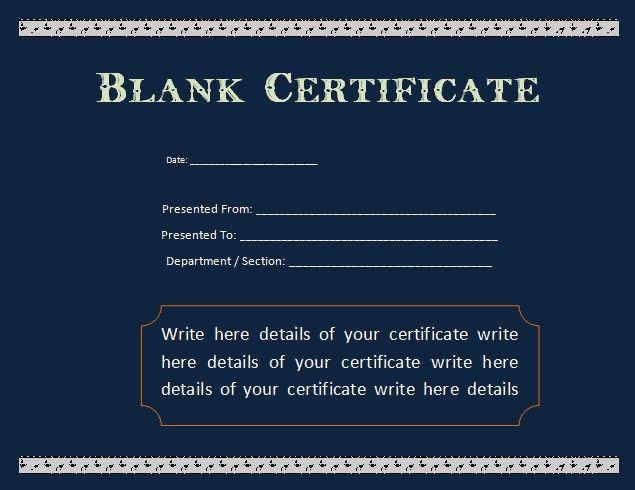 School Attendance Certificate Template  Templates