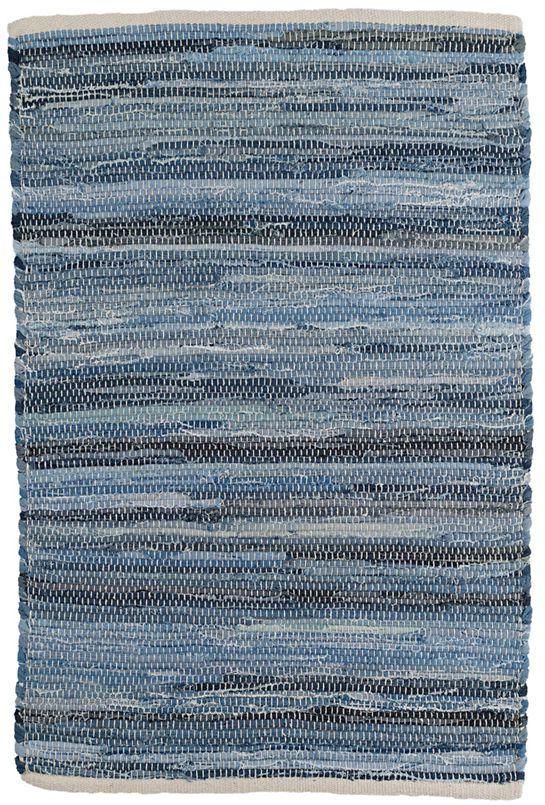 Fine Denim Rag Woven Cotton Rug Dash Albert Rugs On Carpet Denim Rag Rugs Cotton Rug