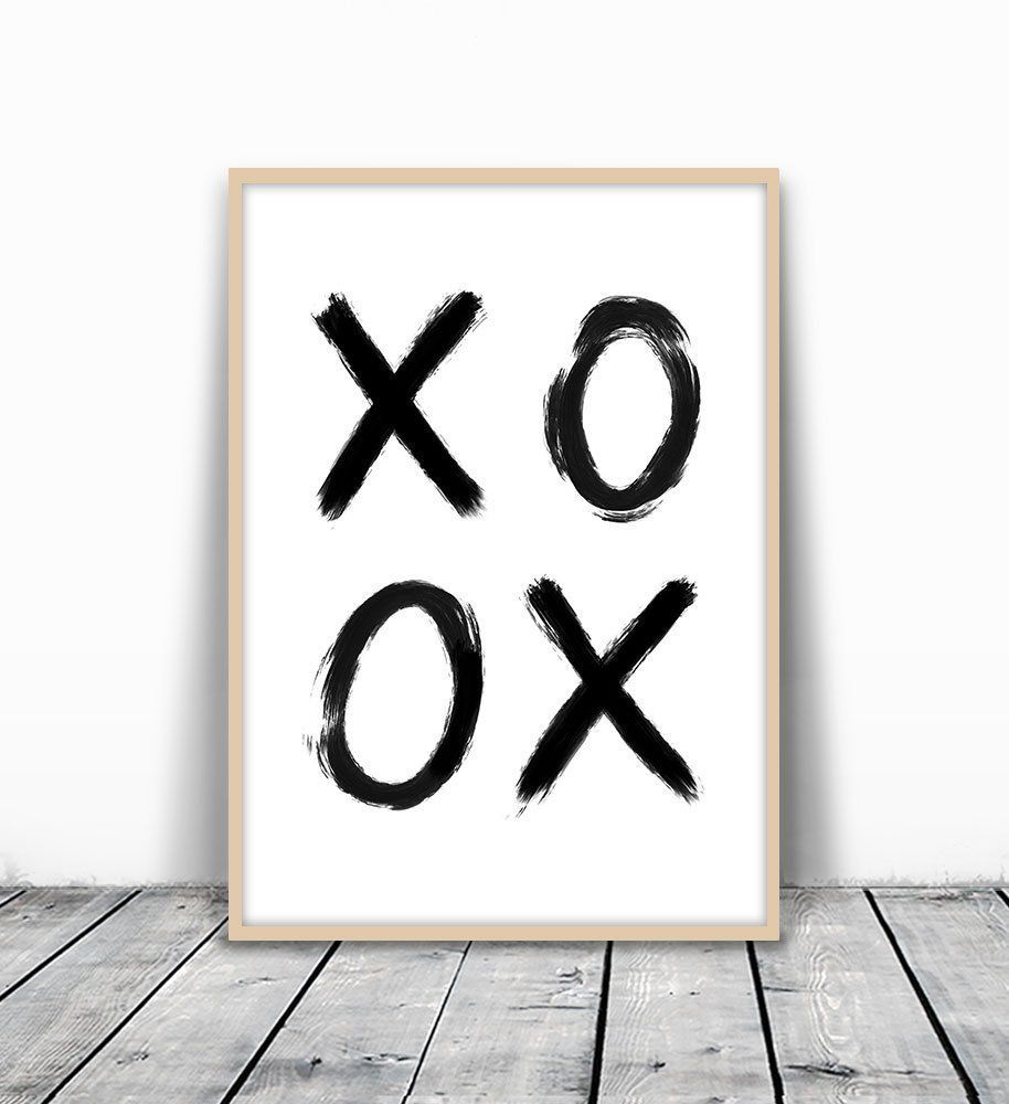 XO print, XO Art, XO Wall Art, Xoxo Print, Love Wall Print, Bedroom Poster, Minimalist Art, Watercolor Print, Black Wall Art, Kiss Wall Print, Love Gift, Love Poster, Love Art Print, Modern Art, 8x10. MotivatedWallArt offers prints on a variety of themes, which gives a modern look to your home. All designs are printed on 250 GSM quality card stock, and mailed in cardboard mailer envelope. The size is 8 x 10 inch and printed to the edge. Please note that frame is not included.