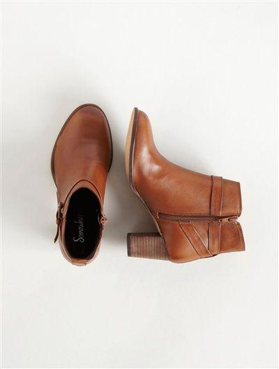 076060ed6 Somwhere BOOTS FEMME À TALON, 'CUVES' MARRON | Nice Ankle Heels ...