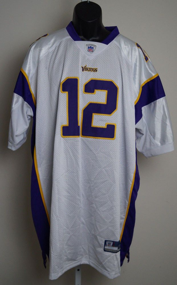 Minnesota Vikings #12 Percy Harvin Purple size 60 4XL Jerseys NWT #Reebok #MinnesotaVikings