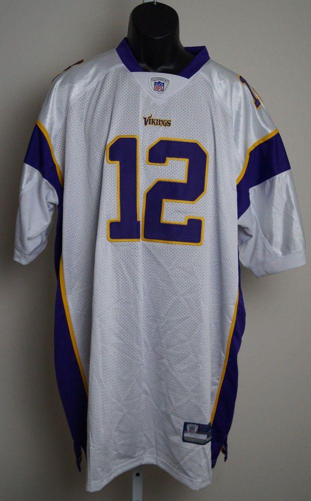 Minnesota Vikings  12 Percy Harvin Purple size 60 4XL Jerseys NWT  Reebok   MinnesotaVikings 59c32e474