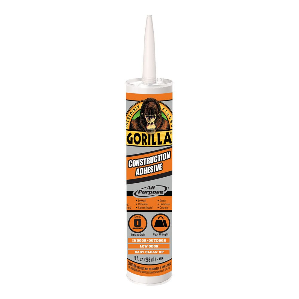 Gorilla Construction Adhesive In 2020 Construction Adhesive Adhesive Gorilla Glue