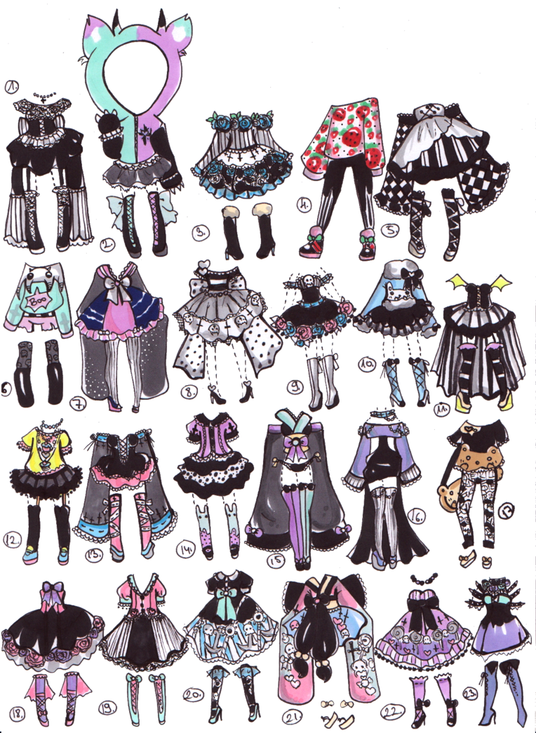 Closed PastelGoth adopts by GuppieAdopts on deviantART