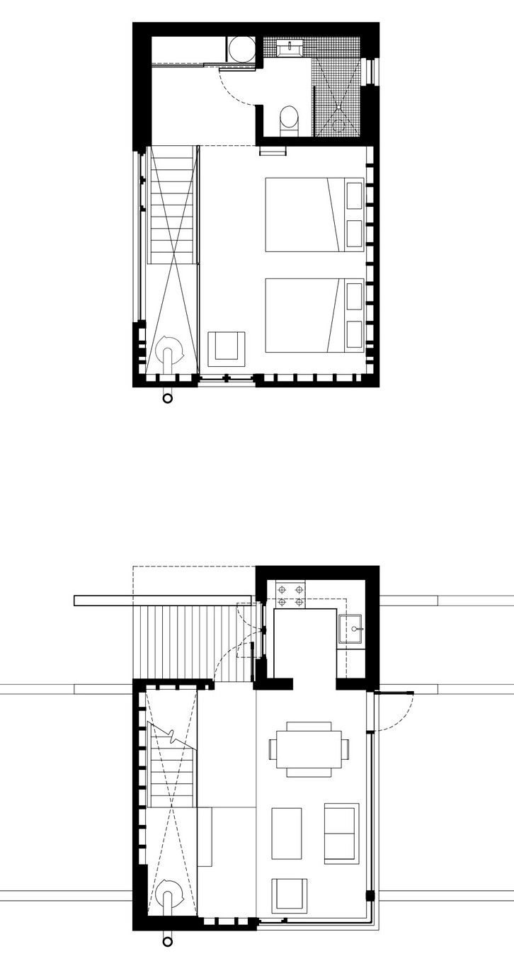 Enough House An Exercise In Modern Minimalism By Sweetapple Architects House Plans House Floor Plans Small House Plans