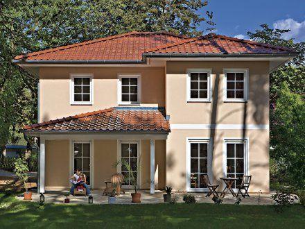 Fassadengestaltung beispiele mediterran  Stadtvillen | Villa Verona (Putzfassade), Terrassen- und ...