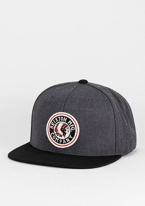 Brixton Snapback-Cap Rival Medium Profile charcoal/black